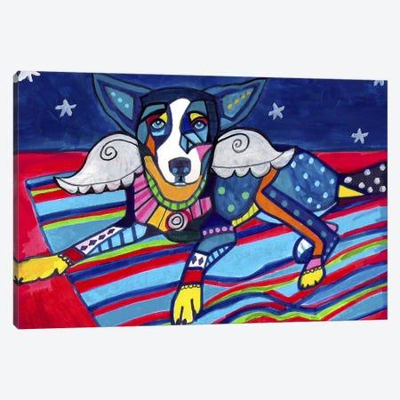 Basenji Tyler Canvas Print #HGL70} by Heather Galler Canvas Artwork