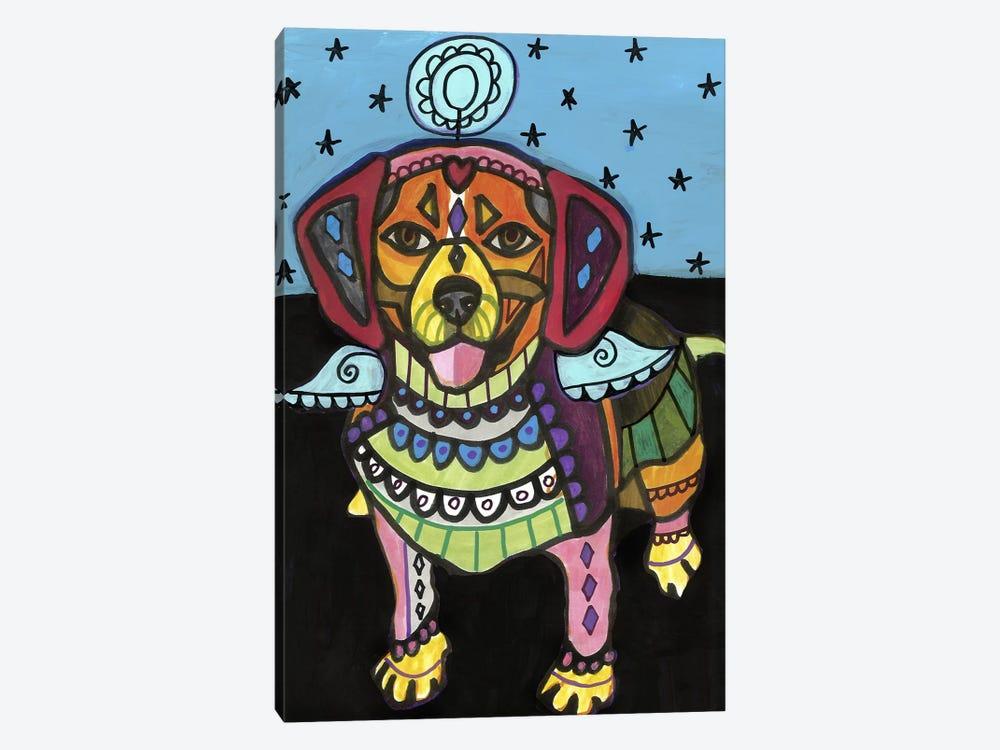 Beagle 2 by Heather Galler 1-piece Canvas Art