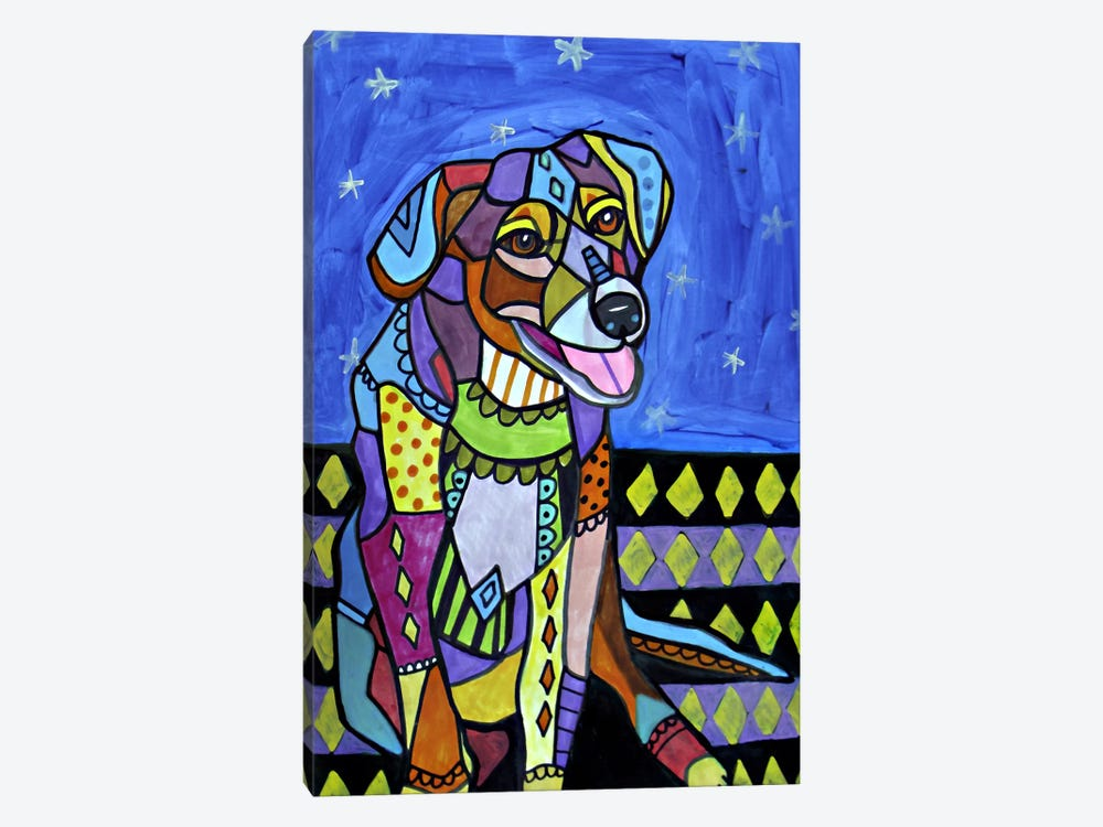 Beagle New by Heather Galler 1-piece Canvas Art Print
