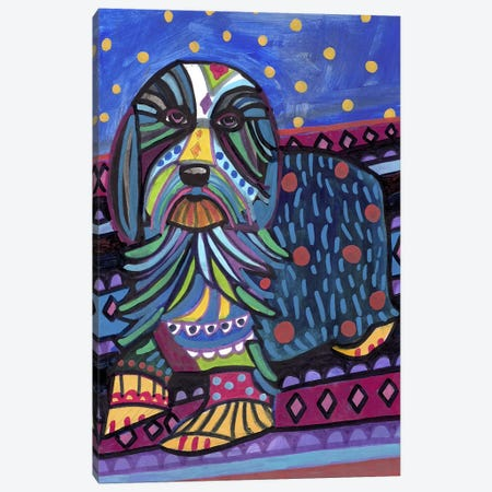 Bearded Collie Canvas Print #HGL75} by Heather Galler Canvas Art Print