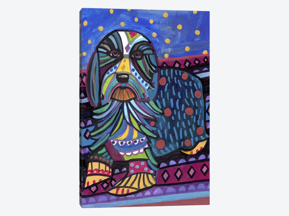 Bearded Collie by Heather Galler 1-piece Canvas Art