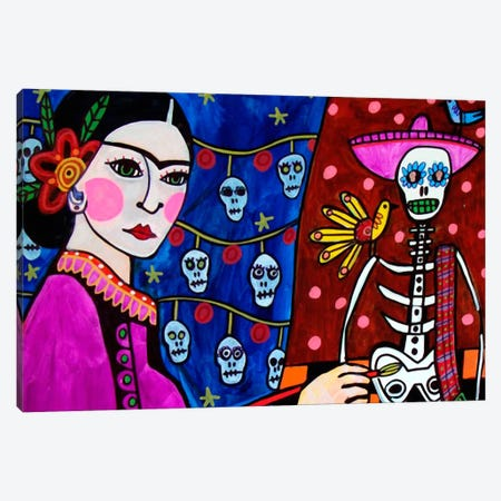 Day of the Dead III Canvas Print #HGL7} by Heather Galler Canvas Wall Art