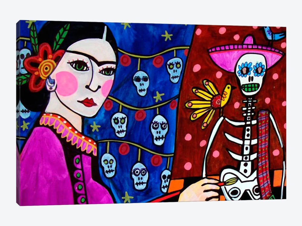 Day of the Dead III by Heather Galler 1-piece Canvas Wall Art