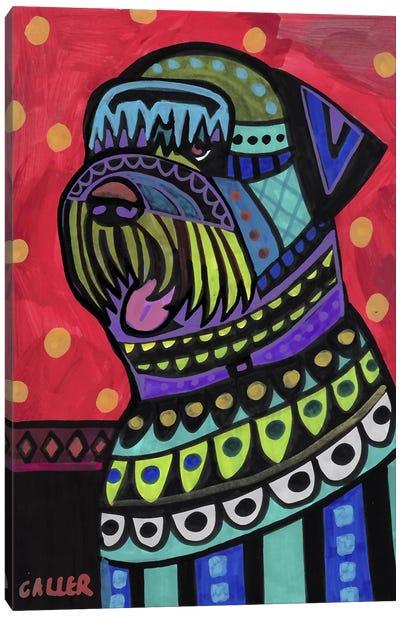 Black Russian Terrier Doifor Canvas Art Print