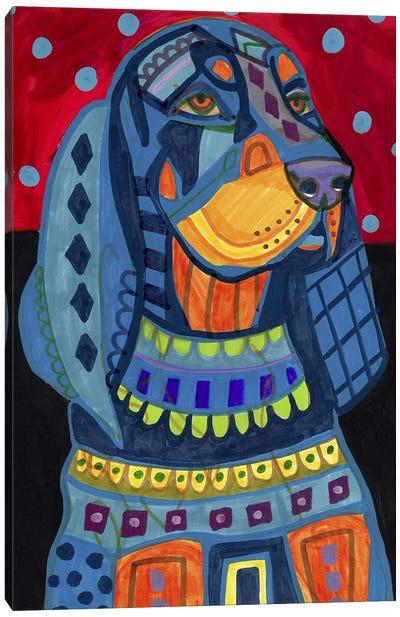 Black Tan Coonhound #177 Canvas Print #HGL86