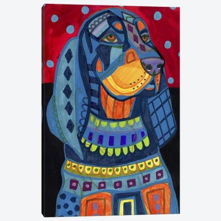 Black Tan Coonhound #177 Canvas Print #HGL86} by Heather Galler Canvas Artwork