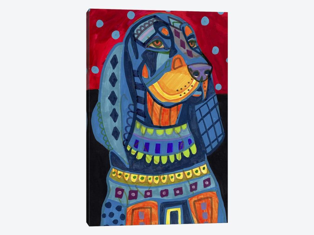 Black Tan Coonhound #177 by Heather Galler 1-piece Canvas Art