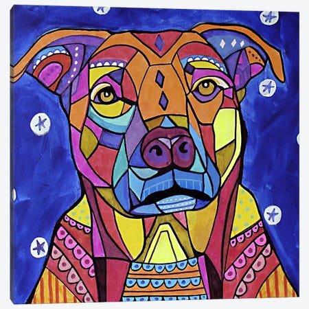 Boxer Pit 3-Piece Canvas #HGL89} by Heather Galler Canvas Art Print