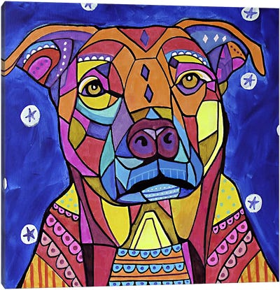Boxer Pit Canvas Art Print