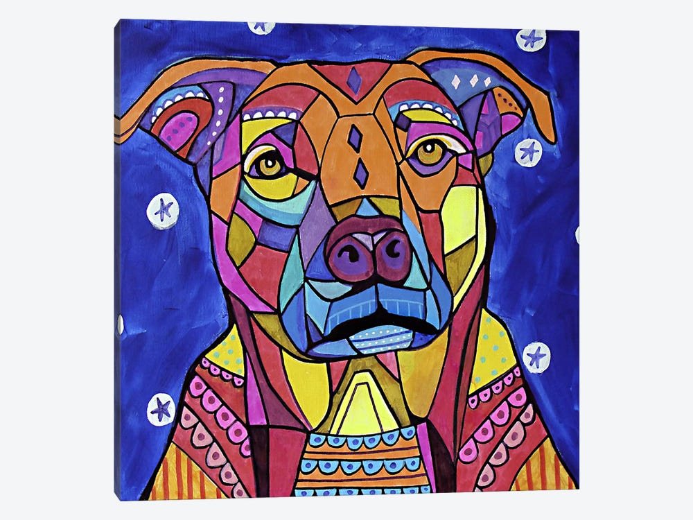 Boxer Pit by Heather Galler 1-piece Art Print
