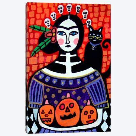 Day of the Dead IV Canvas Print #HGL8} by Heather Galler Canvas Print