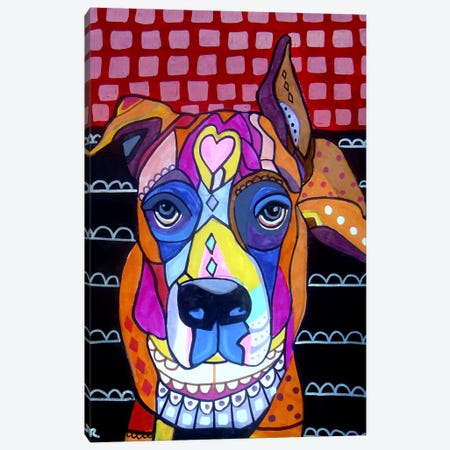 Boxer Sophie Canvas Print #HGL90} by Heather Galler Canvas Art
