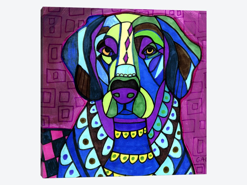 Flat Coat Retriever by Heather Galler 1-piece Canvas Artwork