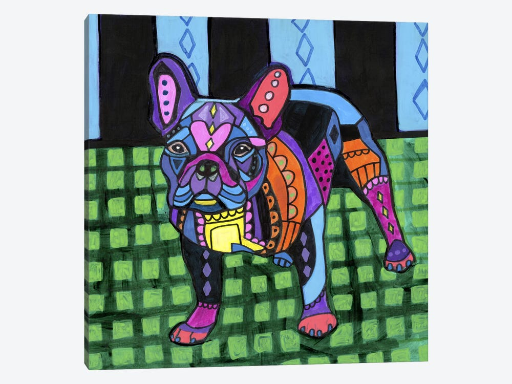 French Bulldog #2 by Heather Galler 1-piece Canvas Art Print