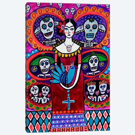 Day of the Dead V Canvas Print #HGL9} by Heather Galler Art Print