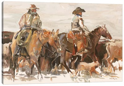 The Roundup Warm by Marilyn Hageman Canvas Art Print