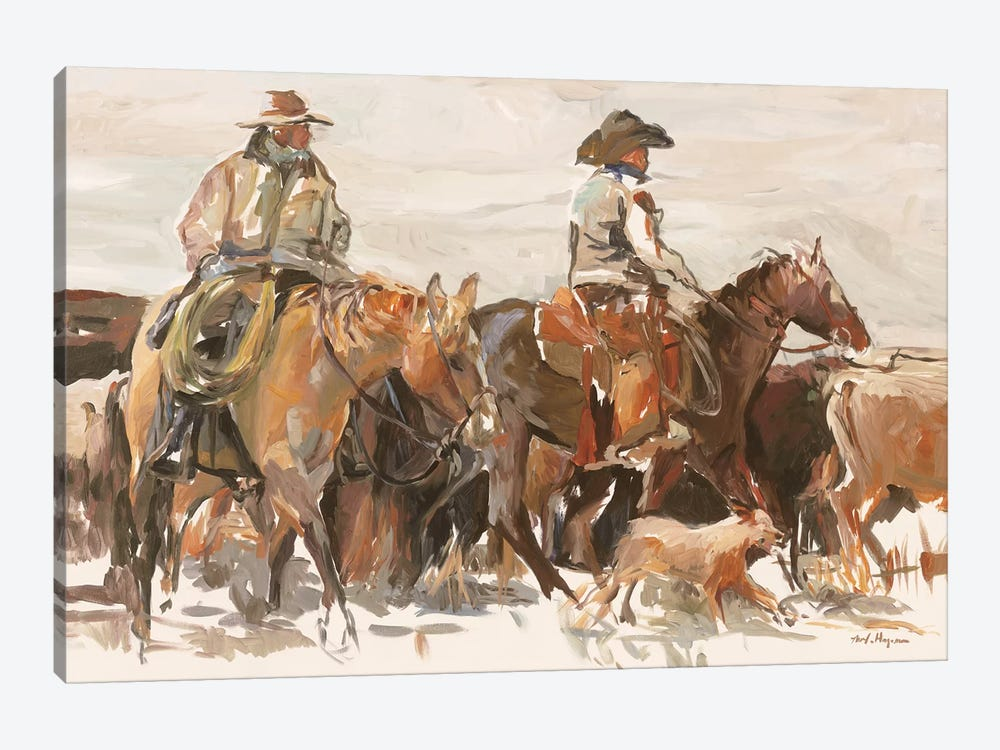 The Roundup Warm by Marilyn Hageman 1-piece Art Print