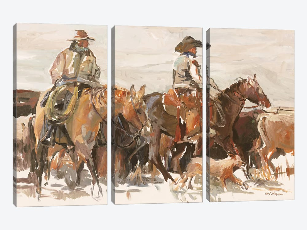 The Roundup Warm by Marilyn Hageman 3-piece Canvas Art Print