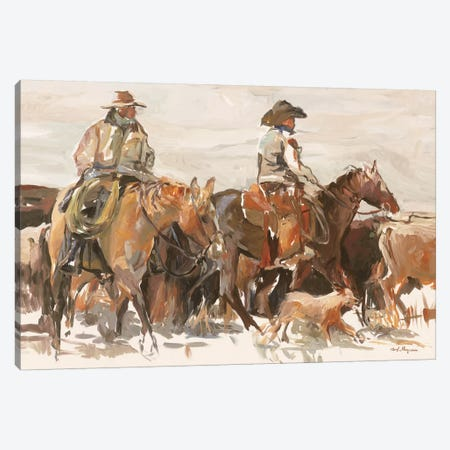 The Roundup Warm Canvas Print #HGM11} by Marilyn Hageman Canvas Art Print