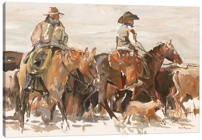 The Roundup Warm Canvas Art Print