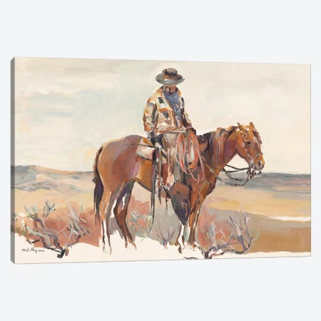 Western Rider Warm Canvas Print #HGM12} by Marilyn Hageman Art Print