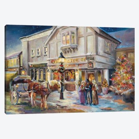 A Christmas Night Light Canvas Print #HGM13} by Marilyn Hageman Canvas Art Print
