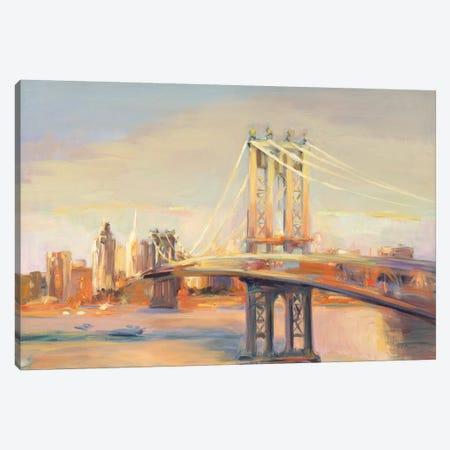 Manhattan Reflection Canvas Print #HGM18} by Marilyn Hageman Art Print
