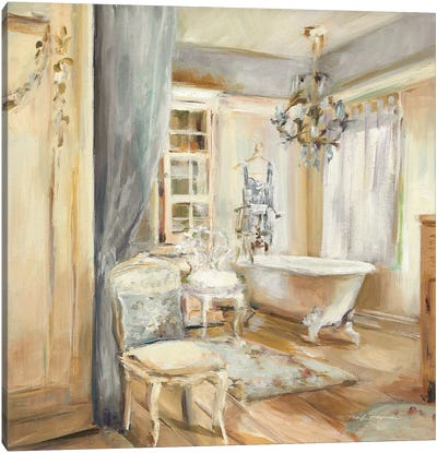 Boudoir Bath I Gray by Marilyn Hageman Canvas Art Print