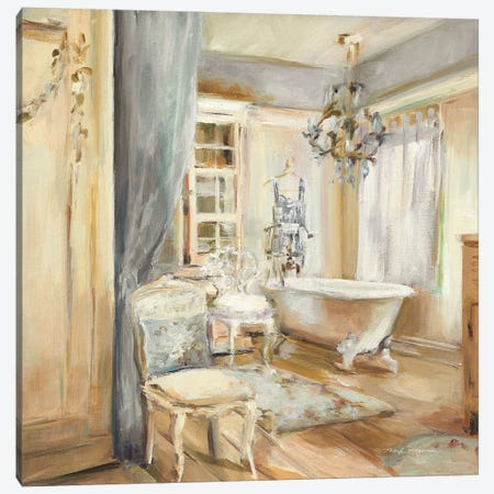 Boudoir Bath I Gray Canvas Print #HGM20} by Marilyn Hageman Canvas Wall Art