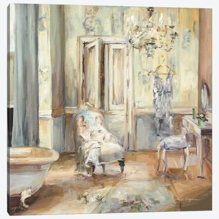 Boudoir Bath II Gray Canvas Print #HGM21} by Marilyn Hageman Canvas Wall Art
