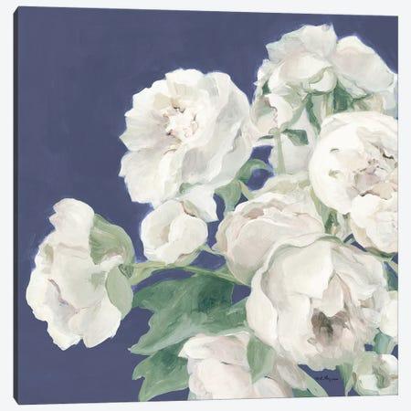 Peonies on Blue Indigo Canvas Print #HGM25} by Marilyn Hageman Canvas Print