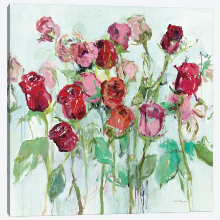 Wild Roses Bright Canvas Print #HGM29} by Marilyn Hageman Canvas Wall Art