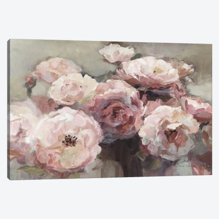 Wild Roses Neutral Canvas Print #HGM3} by Marilyn Hageman Canvas Artwork