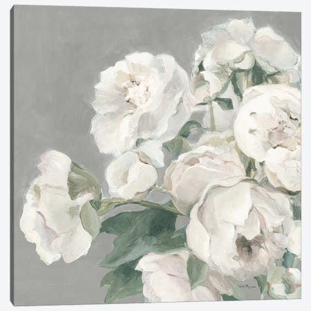 Peonies on Gray Canvas Print #HGM4} by Marilyn Hageman Canvas Art Print