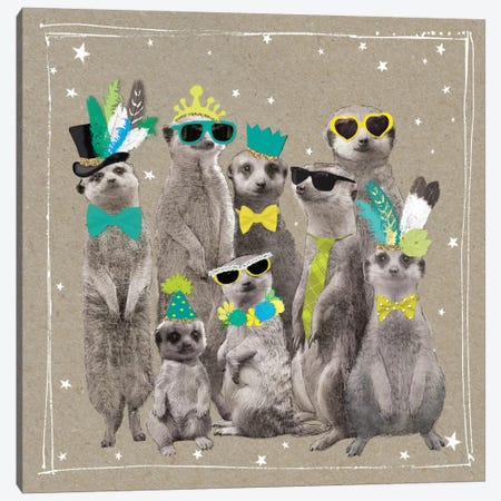 Fancy Pants Zoo I Canvas Print #HGO16} by Hammond Gower Canvas Art