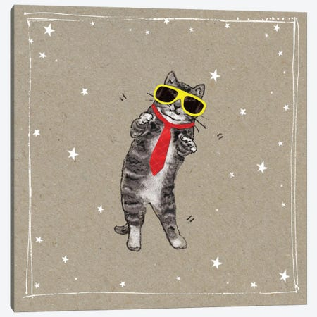Fancy Pants Cats I Canvas Print #HGO28} by Hammond Gower Canvas Art