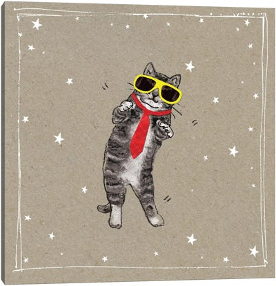 Fancy Pants Cats I Canvas Art Print
