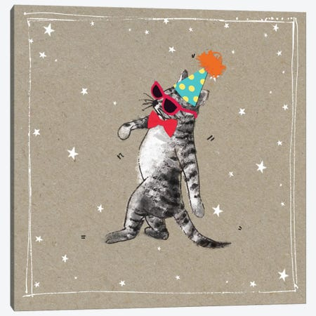 Fancy Pants Cats II Canvas Print #HGO29} by Hammond Gower Canvas Artwork