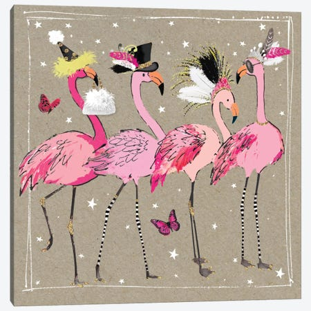 Fancy Pants Bird II Canvas Print #HGO2} by Hammond Gower Canvas Wall Art