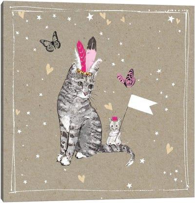 Fancy Pants Cats III Canvas Art Print