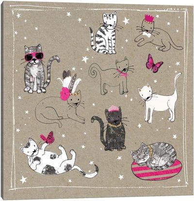 Fancy Pants Cats IV Canvas Art Print