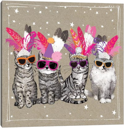 Fancy Pants Cats VI Canvas Art Print
