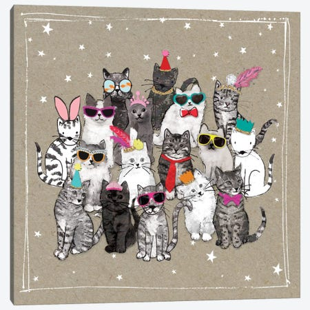 Fancy Pants Cats VII Canvas Print #HGO34} by Hammond Gower Canvas Artwork