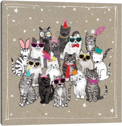 Fancy Pants Cats VII Canvas Art Print
