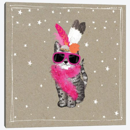 Fancy Pants Cats VIII Canvas Print #HGO35} by Hammond Gower Canvas Art