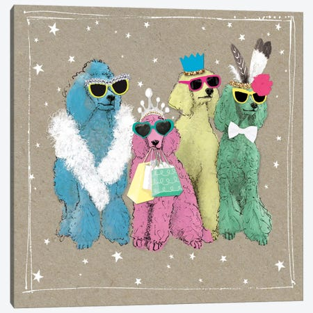 Fancypants Wacky Dogs II Canvas Print #HGO38} by Hammond Gower Art Print