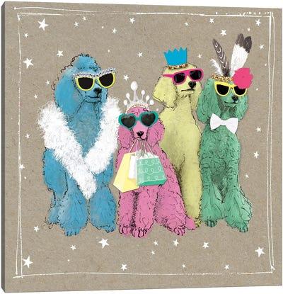 Fancypants Wacky Dogs II Canvas Art Print