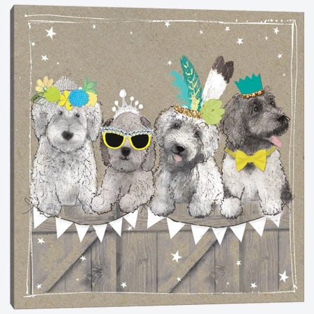 Fancypants Wacky Dogs III Canvas Print #HGO39} by Hammond Gower Art Print