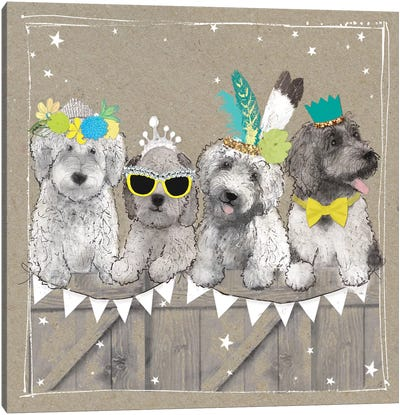 Fancypants Wacky Dogs III Canvas Art Print