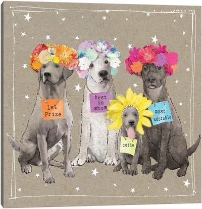 Fancypants Wacky Dogs V Canvas Art Print